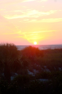 Sunset from my family's FL beach house