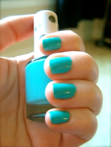 Nail color: Pool Party by Topshop